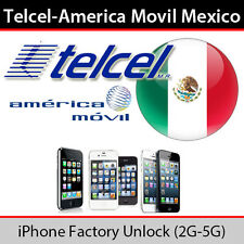 Unlock Telcel (America Movil) MEXICO iPhone 4 4S 5 5C 5S 6 6+ Express ALL IMEI