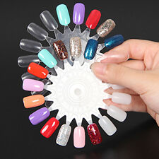 10pcs Nail Art Tips Make Up Practice Round Wheel Polish Acrylic Display Natural