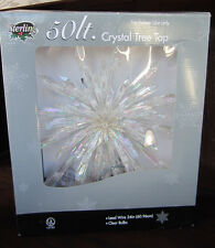Sterling 50 Clear Lights CRYSTAL TREE TOP TOPPER New In Box