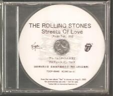 "ROLLING STONES ""Streets Of Love"" 1 Track Japan Promo CD"