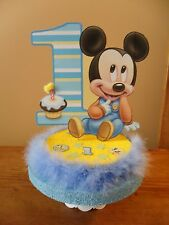 Baby Mickey Mouse Cake Topper 1st First One Birthday Decoration