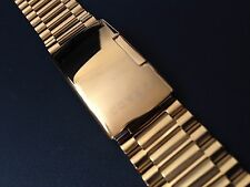 NEW RADO GOLD PLATED DIASTAR SIDE BUTTON 18MM GENTS WATCH STRAP. (WS-S78)