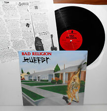 BAD RELIGION suffer LP Record Vinyl with lyrics insert