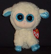 "TY BEANIE BOOS BOO'S - OLGA the 6"" LAMB / SHEEP - MINT with MINT TAG"