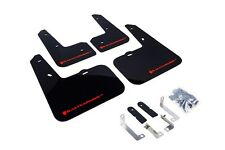 Rally Armor Mud Flaps Guards for 12-16 Veloster (Black w/Red Logo)