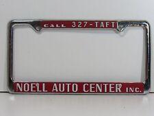 Rare Noell Auto Center Inc. Dealership License Plate Frame Metal Embossed Holder
