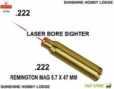 222 .222 Foro Mirino Laser collimatore REMINGTON 5.7 x 47mm cartuccia di Rame Nuovo