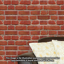 Self Adhesive Wallpaper pattern Vintage Brick Wall Wall Stickers Vinyl Home Deco