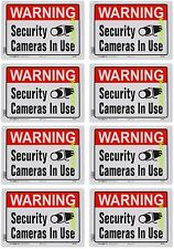 Lot of 8 Warning Security Cameras In Use ~ Home Video Surveillance Aluminum Sign