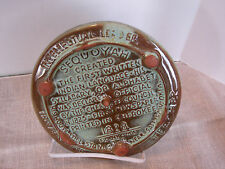 Frankoma Hot Plate Trivet Wall Hanging Sequoyah Cherokee Alphabet #7TR Made USA
