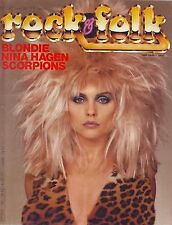 Rock & Folk #187 -BLONDIE- Blondie, Nina Hagen, The Scorpions, Robert Mitchum,