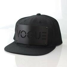 Karl Alley VOGUE Snapback Black Hat Cap Metal Plate Boy London Madonna (B-grade)