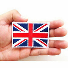 2x UK Flag Embroidered Iron / Sew On  Patch United Kingdom Badge Transfer  R