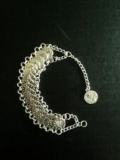 Bracelet Silver Coin Boho Hippie Tribal Belly Dance Moroccan Gypsy Bohemian