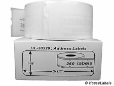 2 Rolls of 260 Address Labels in Mini-Cartons for DYMO® LabelWriters® 30320