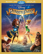Disney Tinker Bell The Pirate Fairy Blu-ray/DVD Movie + Slip Cover NEW Sealed