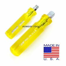 Jawco 3/8 & 1/4 in Drive Stubby Spinner Handle Socket Nut Driver USA Nutdriver