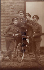 WW1 soldier group Coldstream Guards Bandsmen Bicycle Push Bike Pirbright