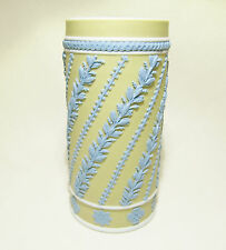 Rare Wedgwood Jasperware Spill Vase Tri-color Yellow Blue White Superb c.1800-50