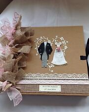 Personalised Wedding Scrapbook Album / Wedding Guestbook Size 8 X 8 Inches
