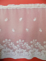 WHITE NET CURTAIN - FLORAL DESIGN - PRICE PER METER - SUITABLE FOR ANY ROOM