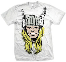 Marvel Comics Thor Big Head Distressed Bianco T-Shirt Unisex Taille / Size S