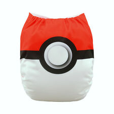 1 Baby Cloth Diaper Nappy Reusable Washable Pocket Bounce Pokemon Pokeball Poke