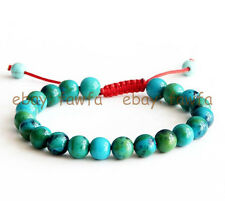 New 8mm Blue Green Gemstone Tibet Buddhist Prayer Beads Mala Bracelet