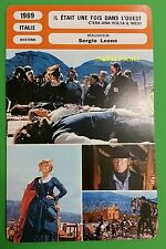 Spaghetti Western Once Upon a Time in the West Henry Fonda French Film Card