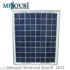 12 Volt 10 Watt Polycrystalline 36 Cell Solar Panel Photovoltaic PV 15 Watt Max