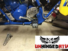 1987-1990 Suzuki LT500R Quadzilla Foot Pegs with Integrated Kick Ups-UnhingedATV