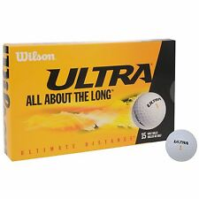 WILSON ULTRA DISTANCE GOLF BALL 15 BALLS IN A BOX WITH FREE UK 48 HOUR POSTAGE