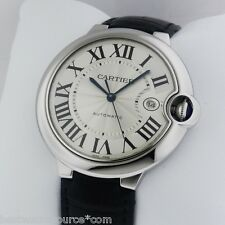 Cartier Ballon Bleu Stainless Steel on Leather Strap B&P W69016Z4 Ret: $6,000