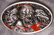 Pewter Belt Buckle animal Dogs of Hell NEW