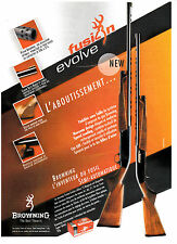 Advertising / Publicité de presse /  FUSIL BROWNING FUSION EVOLVE .  2003