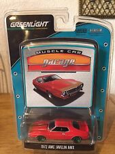 Green Light Green Machine 1972 AMC Javelin AMX 1:64 MCG  #12 Red Sample Piece
