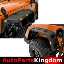07-17 Jeep Wrangler JK 10x LED Side Maker+Paintable Front+Rear Fender Flares
