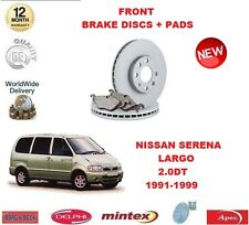 FOR NISSAN VANETTE SERENA LARGO 2.0 D 1991-1999 FRONT BRAKE DISCS SET + DISC PAD