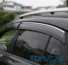 FIT FOR SUBARU XV CROSSTREK WINDOW RAIN DEFLECTORS GUARD VISOR SHIELD DOOR SHADE