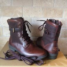 UGG KESEY CHESTNUT WATERPROOF LEATHER SHEEPSKIN ANKLEBOOTS US 8.5 WOMENS 1005264