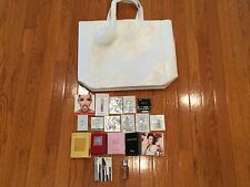 New make up bag tote Kiehl's samples Dior mascara Cartier fragrance Lamer Cream