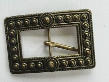 Vintage Dress Buckles - Czech made brass color belt buckle - detailed design
