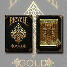 GOLD BICYCLE DECK OF PLAYING CARDS POKER SIZE USPCC - MAGIC TRICKS COLLECTOR