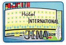 Hotel International JENA DDR luggage label Kofferaufkleber    x0168