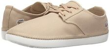 Lacoste Men's Malahini Deck 316 1 Spm Fashion Canvas Shoes Natural Size 13 New