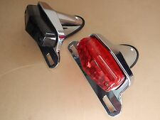 Lucas Small LED Tail Light Chrome With Choice Red or Smoked lens