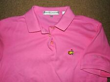 MASTERS COLLECTION WOMEN'S AUGUSTA GOLF POLO SHIRT PINK MEDIUM USED COTTON