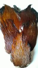 Natural Brown Cock  cape,Fly tying,fly tying materials, natural colour.
