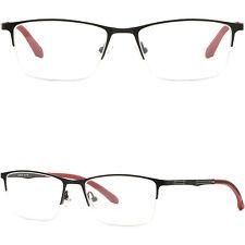 Leichte Herren Damen Brillengestell Titan Metall Zierlich Brillenfassung Schwarz