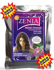 2014 CROP 100g Zenia Pure INDIGO POWDER GRAY HAIR COLOR BLACK USA SELLER